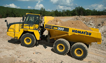 Komatsu America Corp. Introduces the HM300-5 Articulated Dump Truck